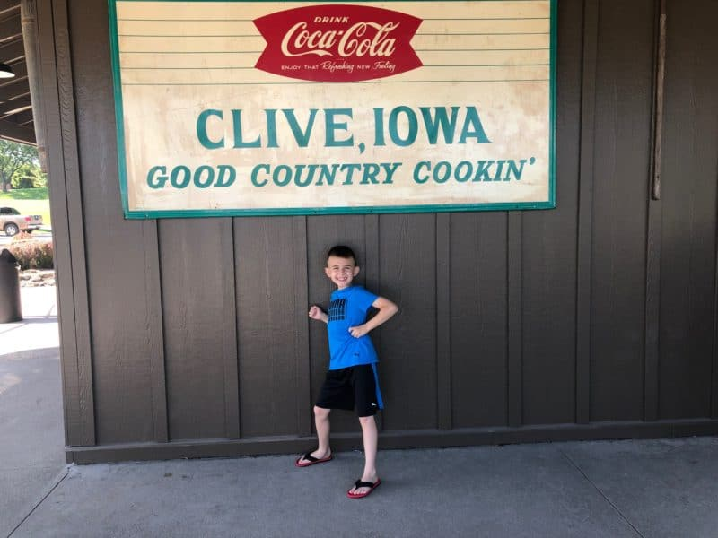 Clive Iowa Sign