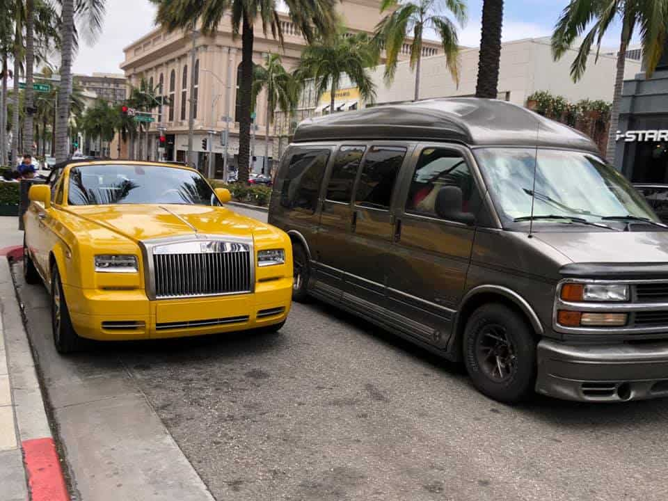 Monster Van Meets Bentley Rodeo Drive