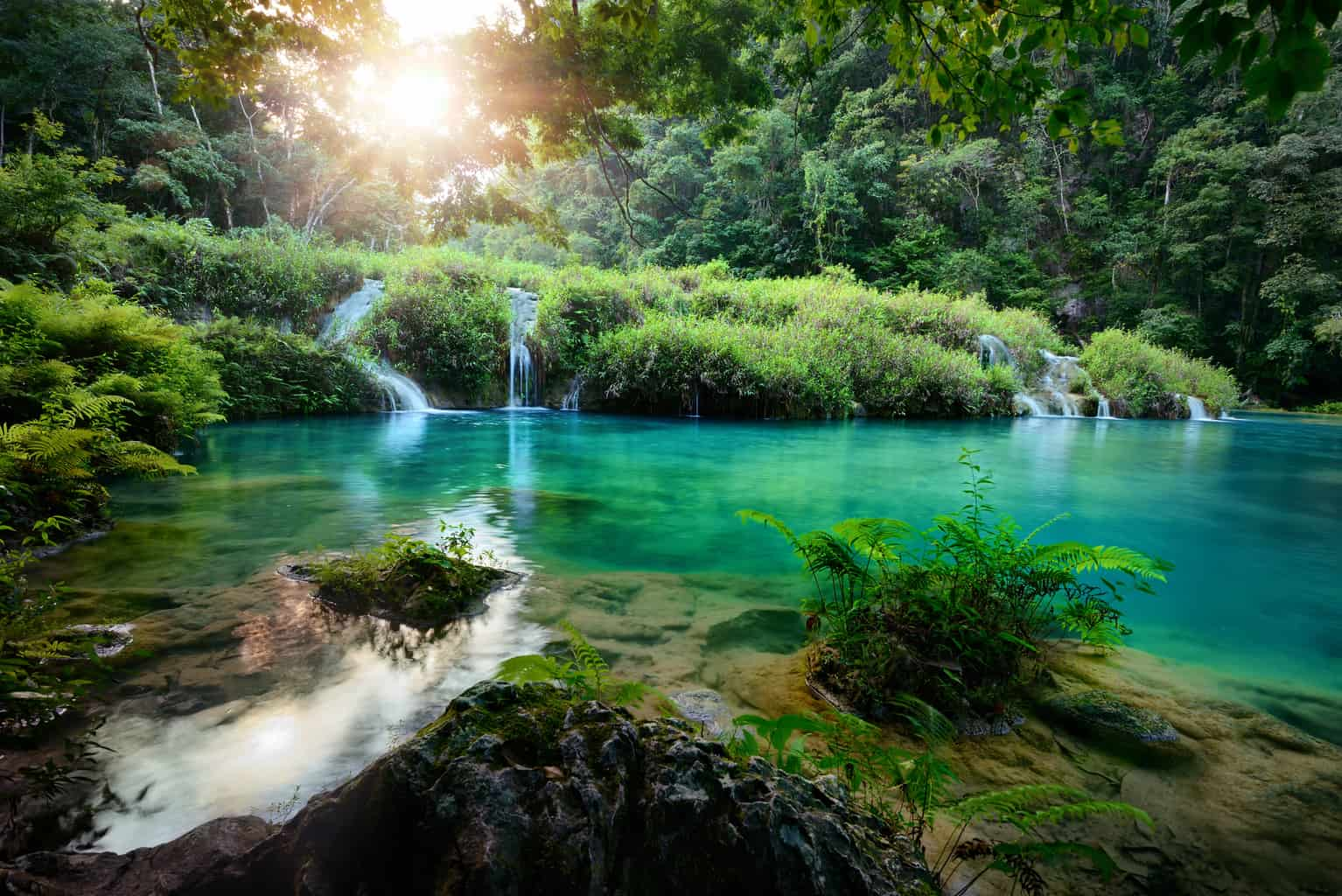 Cascades National Park in Guatemala